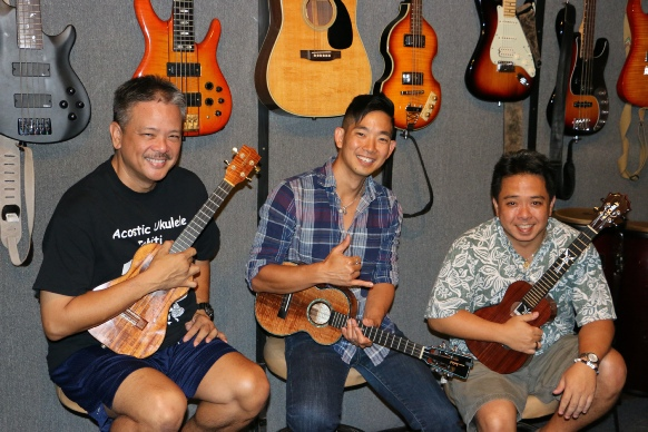 Jake Shimabukuro, Bryan Tolentino and Herb Ohta,Jr. Ukulele Music Hawaii